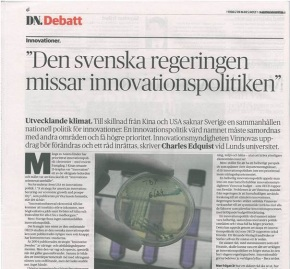Sweden is Neglecting its Innovation Policy!