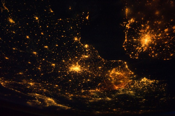 Europe at Night (NASA, International Space Station, 08/10/11) [Explored] by NASA's Marshall Space Flight Center | cc