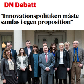 Debate Article: Innovationspolitiken måste samlas i en egen proposition
