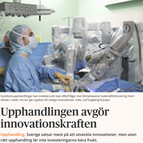 "Newspaper Article: ""Procurement Decides the Innovation Power"""