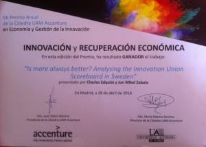 Award Madrid