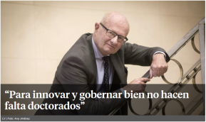 Interview for Spanish Daily, La Vanguardia