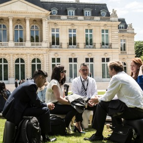 Charles gave a seminar at the OECD inParis