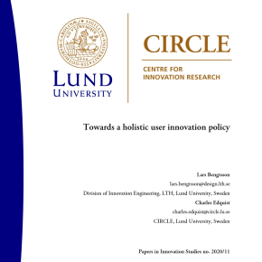 "CIRCLE discussion paper: ""Towards a Holistic User Innovation Policy"""