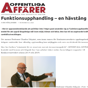 Interview article in Offentliga affärer