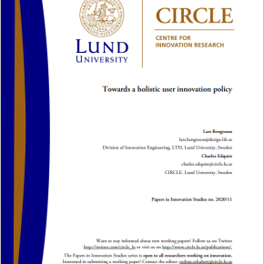 Paper on holistic user innovationpolicy